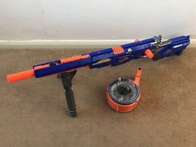 Nerf Elite Longstrike CS-6 Toy Gun Blaster Blue Barrel Magazine