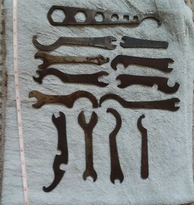 ANTIQUE BICYCLE MULTI WRENCHES TOOLS -lot of 13