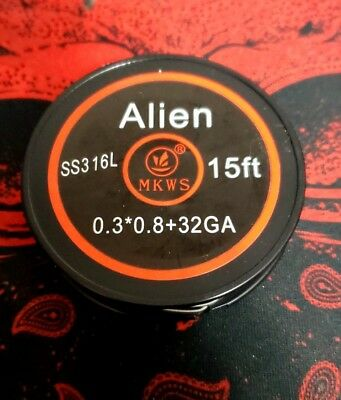 ... Kanthal A1 15feet Premium Coil Vape Vapor; Page - 4. Authentic MKWS Alien Wire Coils 15 feet SS316L Stainless Steel US Seller