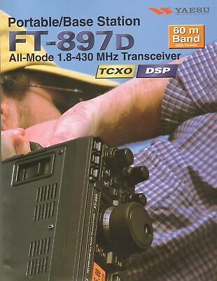 Yaesu Portable / Base Station FT-897D Original Sales Brochure Dual Sided Poster