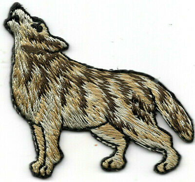 HOWLING Iron On Patch Wild Animal Forest Left WOLF