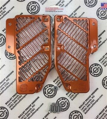 Bullet Proof Designs KTM Freeride Radiator Guard Orange | KTM-RG-13-FREE-ORG