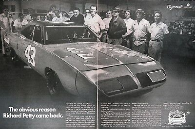 1970 PLYMOUTH SUPERBIRD Genuine Vintage Ad ~ Why Richard Petty Came Back