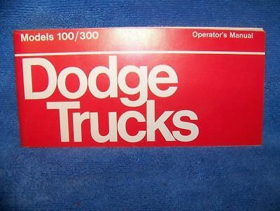 1973 Dodge pickup truck owners manual