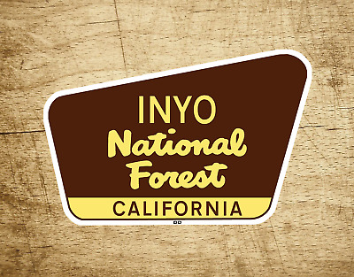 "Inyo National Forest Decal Sticker 3.75"" x 2.5"" California Park Vinyl"