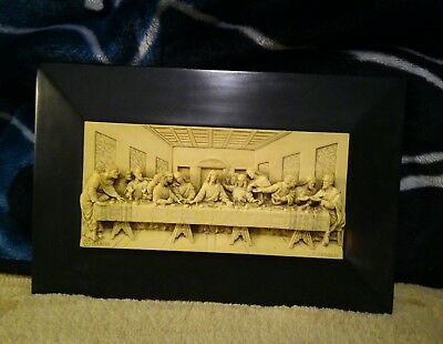 G. Ruggeri The Lords Supper Sculptor Plaque