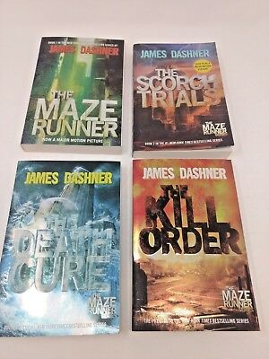 THE MAZE RUNNER Series by JAMES DASHNER - 4 Book Box Set - Like New Condition