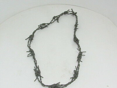1 Leather barbed wire necklace....  Gray colored....,   bracelet....0188