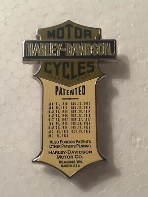 Harley Patented Enameled Jacket Hat Cap Pin Rare Color Green Museum Edition