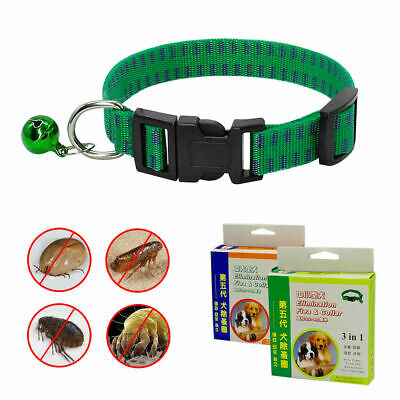 Green Flea and Tick Collar for Dogs Anti Parasites Mosquito Pet Collars 11-17.5""