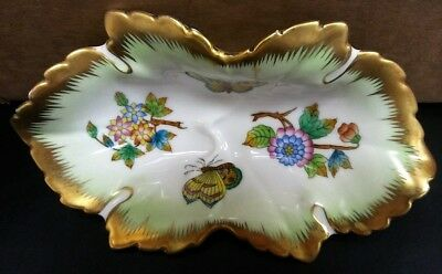 Herend Queen Victoria 7724 VBO Anniversary Leaf Bowl