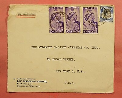 1953 Singapore Airmail To Usa 76130