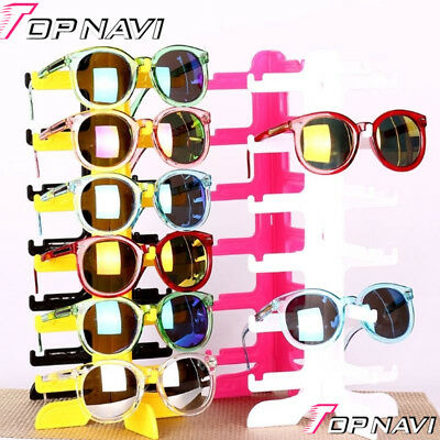 Plastic Sunglasses Eye Glasses Display Rack Stand Holder Organizer 6 Layers