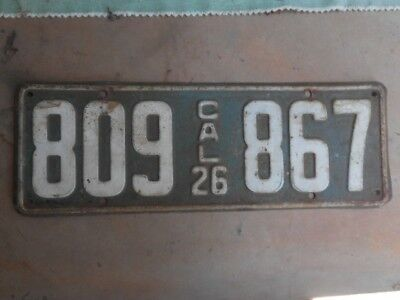 1926 and 1927 California license plates