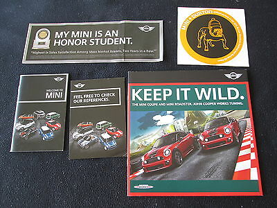 2012 2013 MINI Catalog Set Cooper S Coupe & Roadster Brochure JCW Works BMW