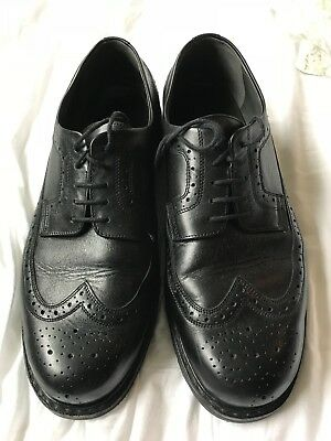 Mephisto black leather wingtip oxfords dress shoes men's size 12.5 (12 1/2)