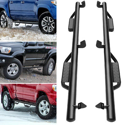 for 05-18 Toyota Tacoma Double Cab 3'' Side Steps Running Board Nerf Bars Guards