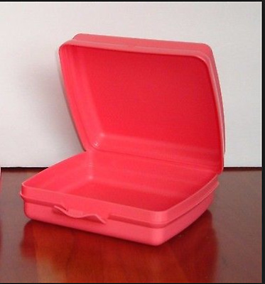 Tupperware Sandwich Keeper Hinged Seal Crayons Crafts Opaque Watermelon New