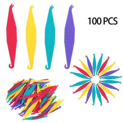 100Pcs Dental Disposable Orthodontic Elastic Placer for Braces Rubber Band 60mm
