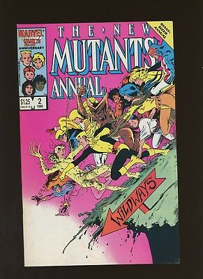 New Mutants Annual 2 VF 8.0 *1 Book* 1st Psylocke! X-Men,Claremont,1986,Marvel!