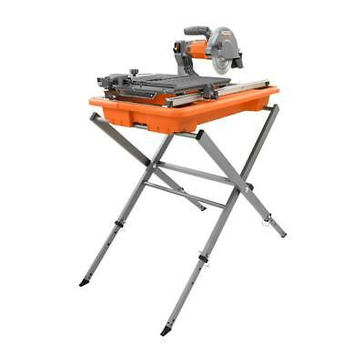"RIDGID 7"" Wet Tile Saw & Aluminum Stand w/ Adjustable Laser BRAND NEW"