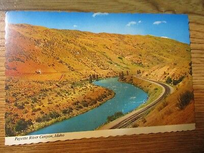 "Vintage Post Card Payette River Canyon Idaho Scalloped 6"" x 4"""