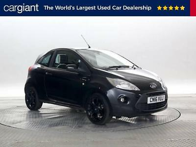 Reg Ford Ka   Zetec Black Edition Panther Black  Standard Petrol