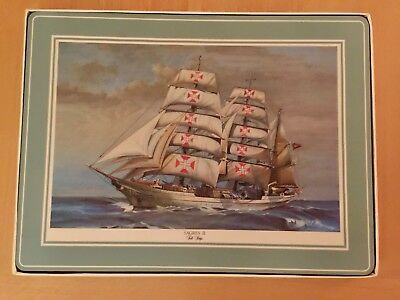 Pimpernel TALL SHIPS Place Mats - Vintage Never Used!!! Excellent - England