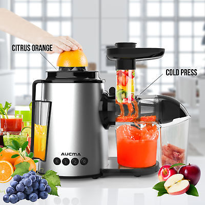 Cold Pressed Slow Juicer AUCMA Fruit Food Vegetable Processor Mixer Extractor