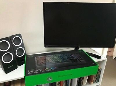 gaming computer bundle monitor Razer Ornata Chroma Keyboard Logitech Speakers Lg