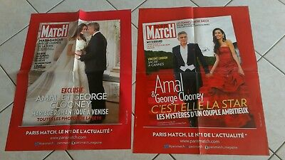 collector lot 2 affiches grand format GEORGES CLOONEY annee 2000 paris match