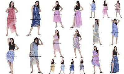 Indian Hand Block Print Cotton Voile Large Scarf/Shawl Beach Sarong Cover Up