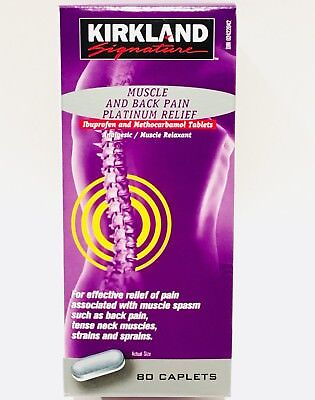 Kirkland Signature Muscle And Back Pain Platinum Relief 80 Caplets exp DEC 2020