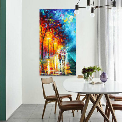 """MODERN ABSTRACT Hand-Painted OIL PAINTING CANVAS """"Back""""(No Frame)"""