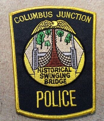 IA Columbus Junction Iowa Police Patch