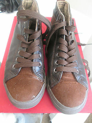 Shanbu - Brown Faux Leather Trainers Size 5