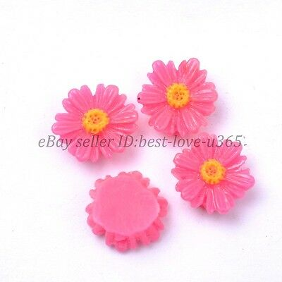 20pcs PlumGorgeous Sunflower Coral Resin Spacer Beads 12MM