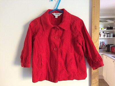 Bebe by minihaha girls size 1 corduroy jacket red baby