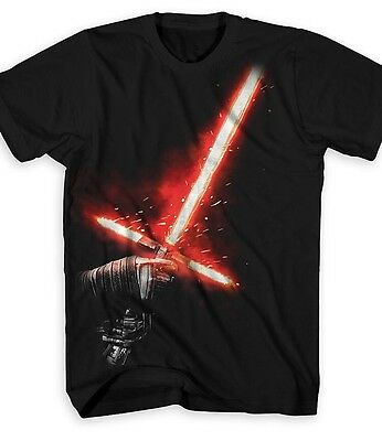 AUTHENTIC DISNEY Kylo Ren Lightsaber Light Saber Tee for Adults size Large NEW