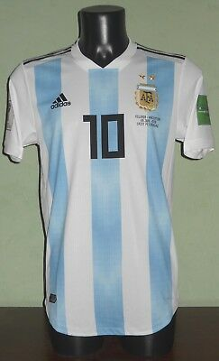 Maglia MESSI #10 Argentina vs. Nigeria MATCH ISSUED World Cup 2018 home shirt