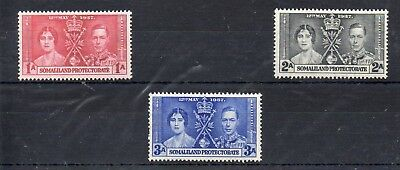 Somaliland Protectorate Stamps 1937 Coronation Mounted Mint