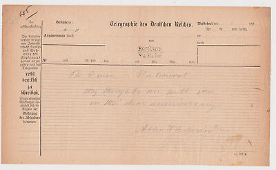 King Edward VII Signed Note To Queen Victoria, On Her Anniversary