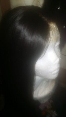 Perruque lisse lace front wig 22""