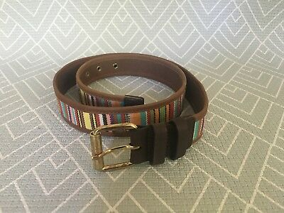 NEW, Maje Ladies Leather And Cotton Belt