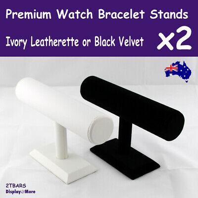 WATCH Holder Bracelet Display Stand | 2pcs | IVORY or Black | AUSSIE Seller