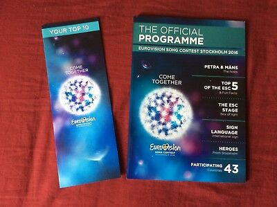 Eurovision - Stockholm 2016 - Official Programme And Scorecard