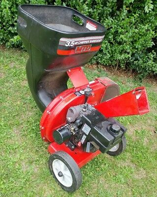 MTD petrol chipper shredder 3.5hp engine.