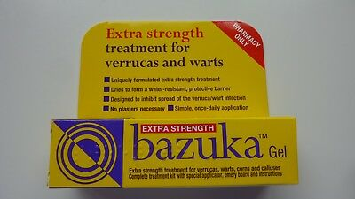 Bazuka Extra strength Gel treatment for verrucas and warts - 5g