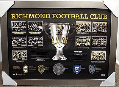 Richmond Tigers Premiership History Print Framed - Afl Premiers - Brownlow Medal