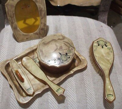 Vintage Deco Dresser Tray and Accessories
